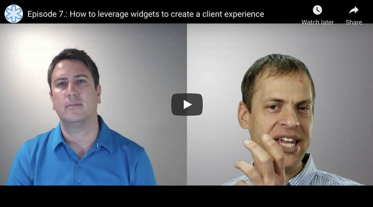 How to leverage widgets to create a client experience