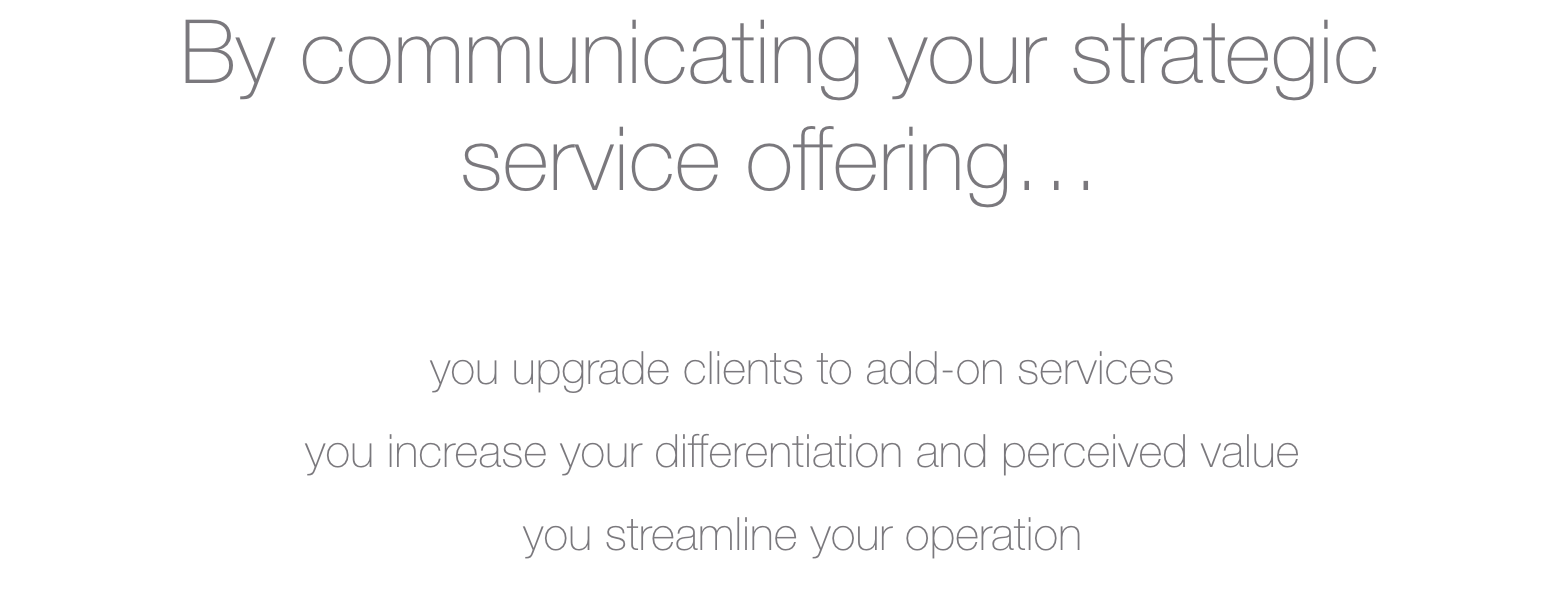 communicate your strategic IT service offering