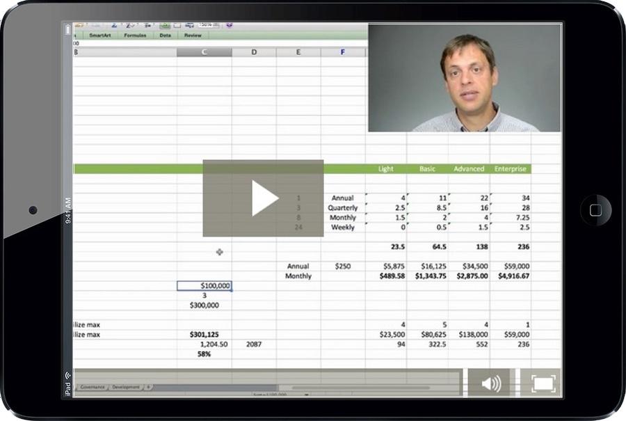 Calculating the utilization and profitability of a vCIO